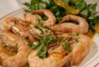 Shrimps with garlic sauce